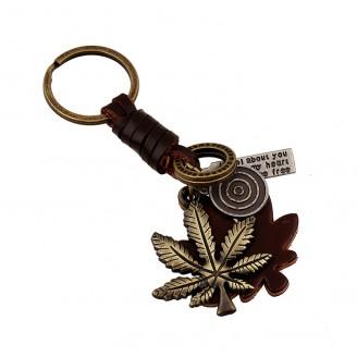 Ключодържател с кожа и метално листо