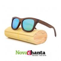 Дървени очила с тъмни рамки - 2 модела