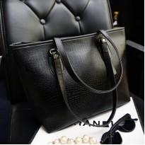Класическа черна дамска чанта