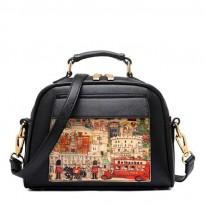 Модерна чанта в два цвята - Fiumicino