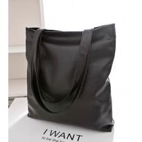 Евтина черна дамска чанта Tote