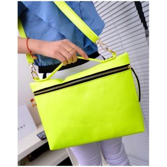 Стилна жълта дамска чанта от еко кожа