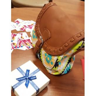 Дамска шарена чанта за рамо