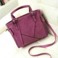 Голяма розово-лилава чанта тоте