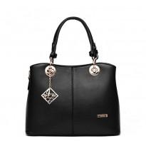 Луксозна черна дамска чанта
