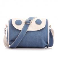 Синя дънкова дамска чанта
