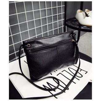 Черна класическа чанта клъч за през рамо