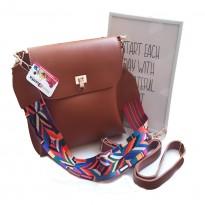Чанта за през рамо с цветна каишка - Sanremo