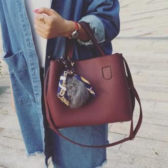 Дамска чанта с пухче - Umbria