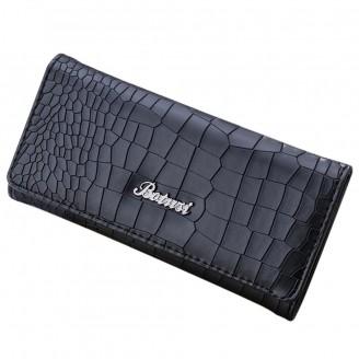 Черно или лилаво стилно дамско портмоне - каменна текстура