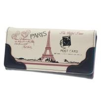 Евтино черно портмоне с Айфеловата кула