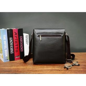Мъжка чанта с декоративен диагонален цип