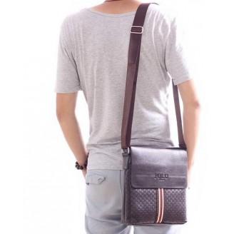 Мъжка чанта с цветна вертикална лента