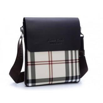 Сива мъжка чанта с полиестер
