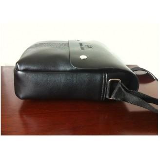 Мъжка черна чанта с магнит
