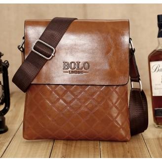 Евтина мъжка чанта BOLO -черна или кафява