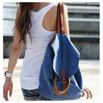Синя модерна дамска раница